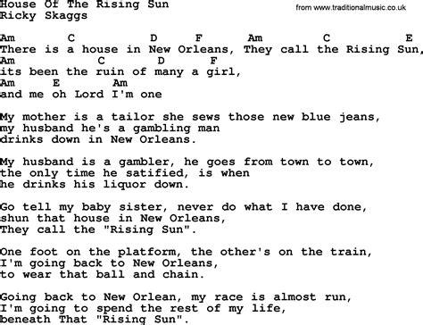 Bluegrass Lyrics With Chords