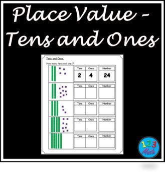 These worksheets are suitable for grade one, two and three students.worksheets types listed below.tens ones blocks, how many tens and ones x 6popsicle stick bundles. Place Value - Tens & Ones Worksheets by 123 Math | TpT