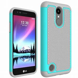 For Lg K4 2017 Armor Case  Rugged Impact Hybrid Heavy Duty