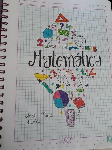 caratula de matematica muy cool caratulas de matematicas