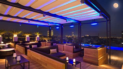 glass bar table 5 best rooftop bars in barcelona linguaschools barcelona