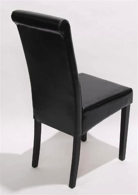 chaise salle a manger noir chaise de salle a manger en cuir noir