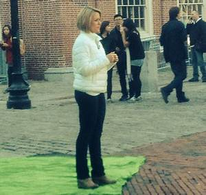 Why, yes that was Dylan Dreyer at Faneuil Hall today ...