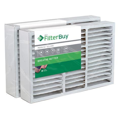 2 - 16x25x5 Lennox X0583, X6670, HCF16-10 Box Replacement Pleated AC Furnace Air Filters - MERV ...
