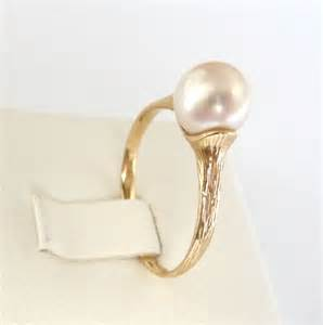 pearl engagement rings gold pearl engagement ring gold pearl ring classic promise ring