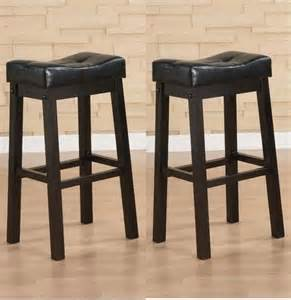 Leather Counter Height Saddle Bar Stool