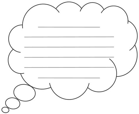 Thinking Cloud Writing Template by Thought Bubbles And Designs October Clipart Best