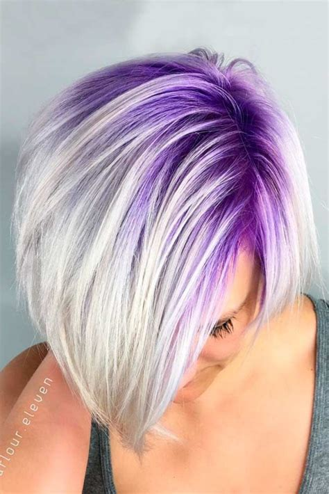 unique silver purple hair ideas  pinterest silver