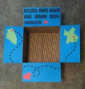 """Care package box kit """"distance means nothing when someone ..."""