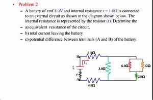 Solved  A Battery Of Emf 8 0v And Internal Resistance R