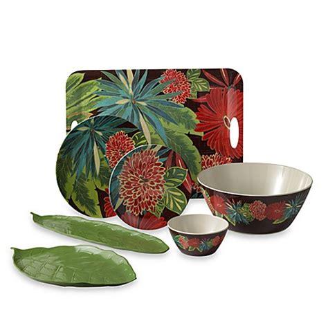tropical melamine  dinner plate bed bath