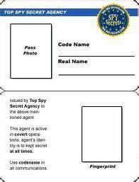 secret agent badge template  printable google search