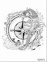 Coloring Pentagram Adult Printable Getcolorings Wonderful sketch template