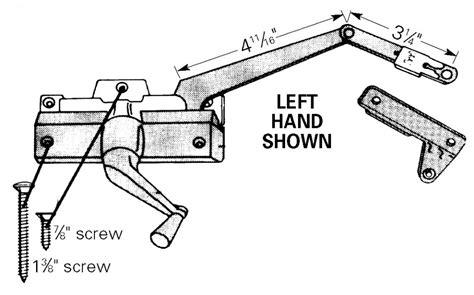 andersen casement window hardware split arm operator anderson truth window hardware
