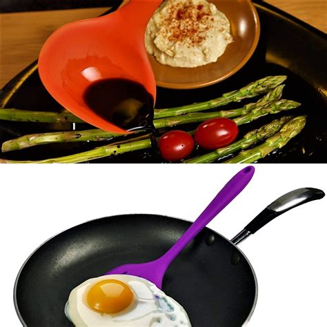 silicone utensils kitchen cooking non resistant heat scratch pieces multicolor stick gadgets
