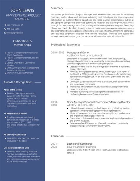 Professional Cv Maker Free by Avant Professional Cv Template Visualcv