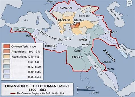 Ottoman Expansion Map by The Ottoman Empire Maps