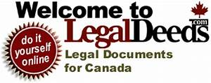 Legaldeedscom legal documents for canada for Do it yourself legal documents