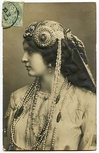 Old, Photo, -, Art, Nouveau, Lady, With, Jewelry