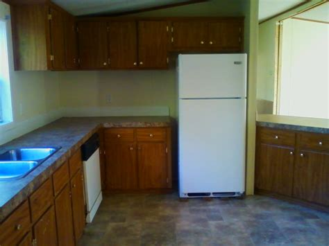 kitchen cabinets for mobile homes a spectacular wide manufactured home makeover 8036