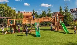 Aire De Jeux Pour Jardin : grande aire de jeux de jardin pour enfants en bois massif ~ Premium-room.com Idées de Décoration