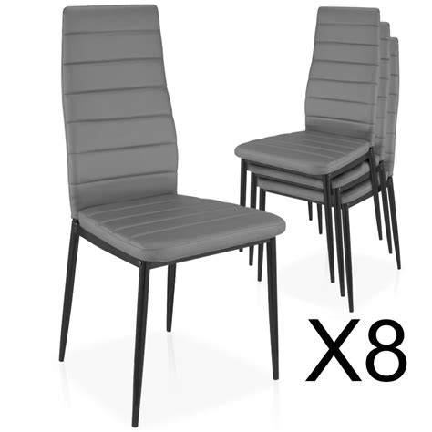 chaises m lot de 8 chaises empilables gris chaise empilable
