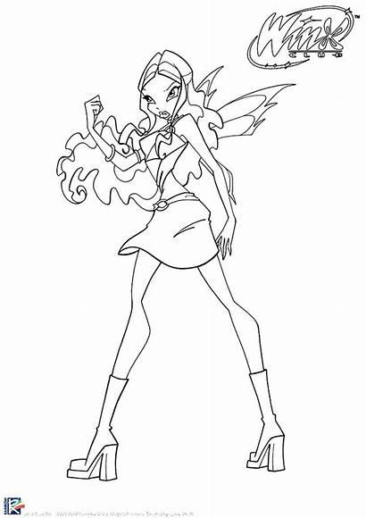 Winx Coloring Aisha Charmix Sirenix Magic Colorea