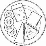 Cheese Coloring Crackers Pages Dairy Mouse Getcoloringpages Cake Pizza sketch template