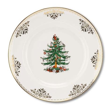 spode christmas tree gold collection set of 4 dinner