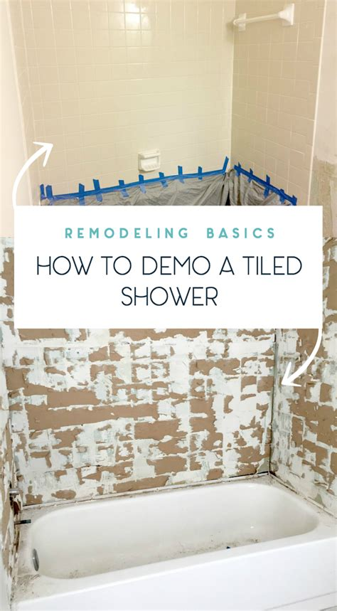 Removing Wall Tiles In Bathroom by Tips On How To Remove Shower Tile Duckling House