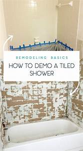 How to remove shower tile tile design ideas for How to demo a bathroom