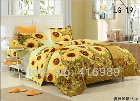 shipping sunflowers printed cotton queenking