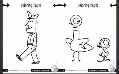 Pigeon Willems Coloring Mo Pages Bath Needs