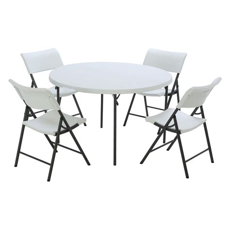 lifetime tables and chairs lifetime products 48 in round fold in half table and