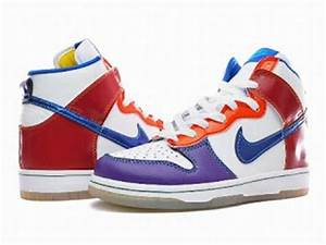 Bright Colorful Nikes High Premium Women Dunk White Royal