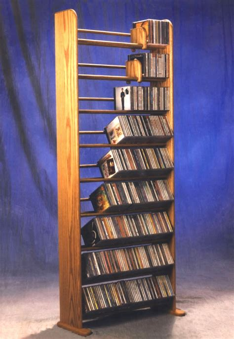 build  wooden cd storage rack plans diy
