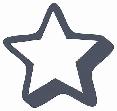 Clip Clipart Bintang Gambar Cool Putih Hitam