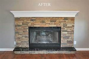 Faux stone fireplace for Faux stone fireplace remodel
