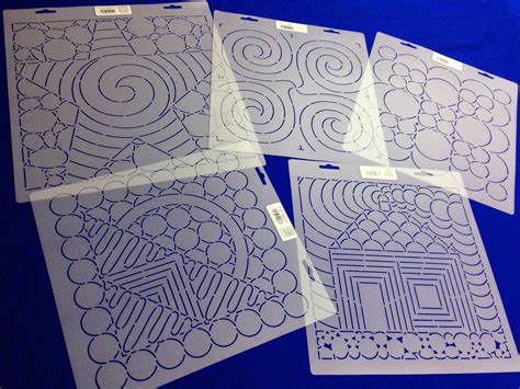 stencils for quilting the free motion quilting project building block stencils