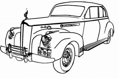 Coloring Pages Cars Classic Printable Truck Drawing