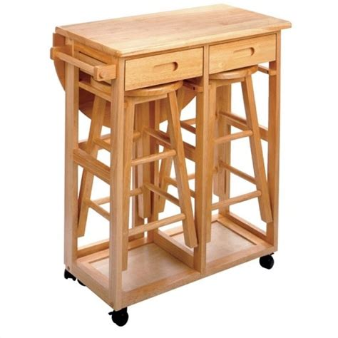 kitchen island with drop leaf breakfast bar mobile breakfast bar table set with 2 stools in