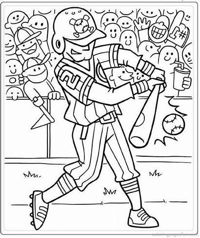 Coloring Pages Printable Softball Baseball