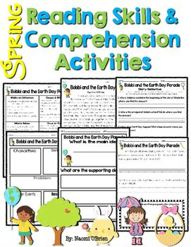 Reading Skills & Reading Comprehension Activities Spring Themed Tpt