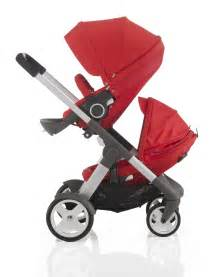 Stokke Crusi Stroller, Bassinet and Sibling Seat (Red)