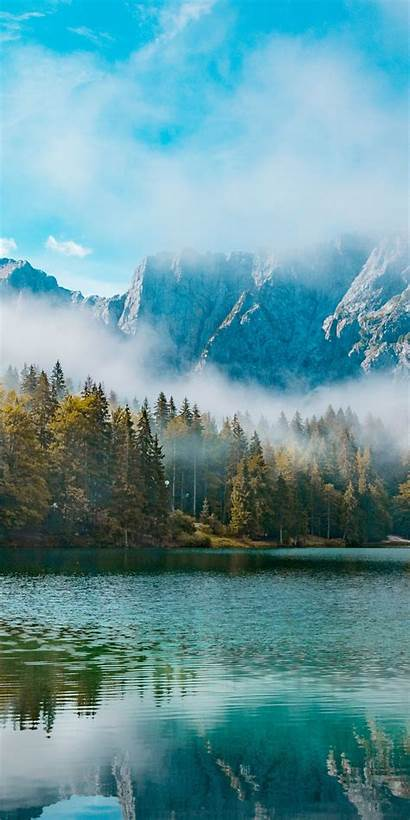 Mist Mountains Lake Nature Forest