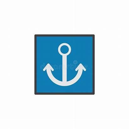 Port Sign Icon Flat Illustration Vector Symbol