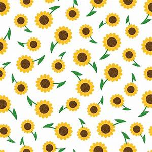 Sunflowers pattern design Vector | Free Download