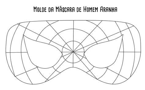 Máscara de Homem Aranha em Feltro com Molde Como fazer