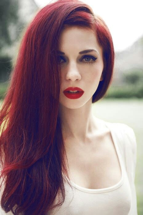bold beautiful bright red hair color shades