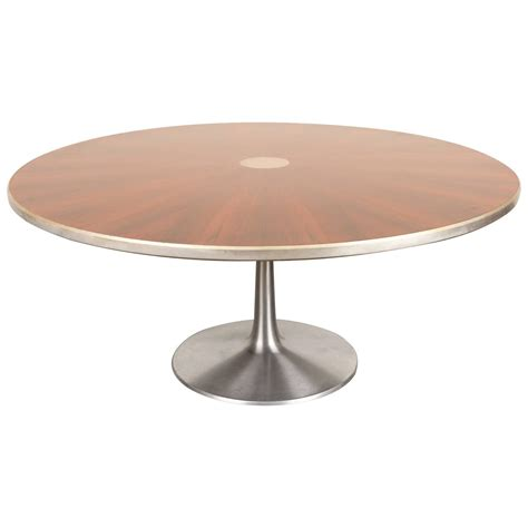 dining table pedestal base round rosewood dining table with pedestal base by poul